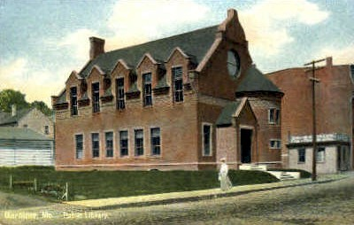 Public Library - Gardiner, Maine ME Postcard