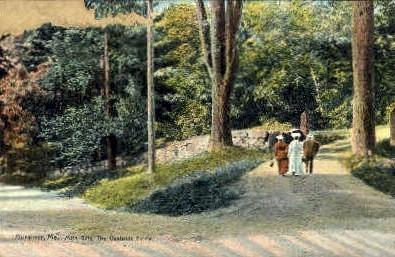 Main Gate, Oaklands Estate - Gardiner, Maine ME Postcard