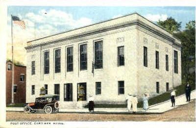 Post Office - Gardiner, Maine ME Postcard