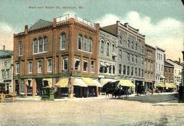 Main & Water Sts. - Gardiner, Maine ME Postcard