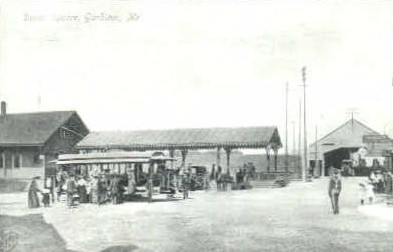 Reproduction -Depot Square - Gardiner, Maine ME Postcard
