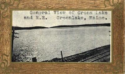 . - Green Lake, Maine ME Postcard