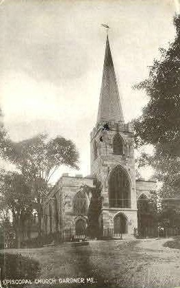 Episcopal Church - Gardiner, Maine ME Postcard