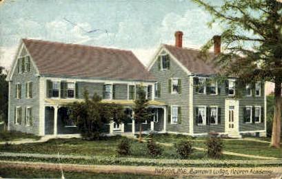 Barrows Lodge, Hebron Academy - Maine ME Postcard