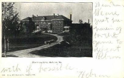 The Dormitory - Hebron, Maine ME Postcard