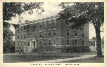 Atwood Hall, Hebron Academy - Maine ME Postcard