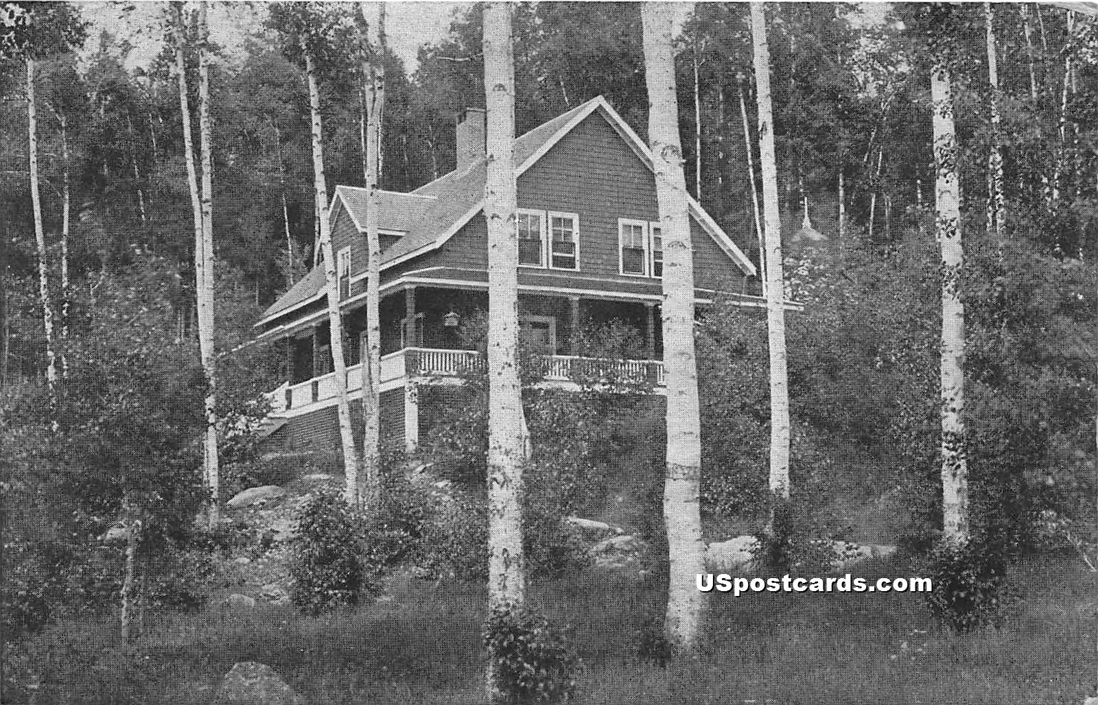 Building Surrounded by Trees - Haines Landing, Maine ME Postcard