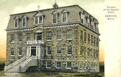 Convent of the Sacred Heart - Jackman, Maine ME Postcard