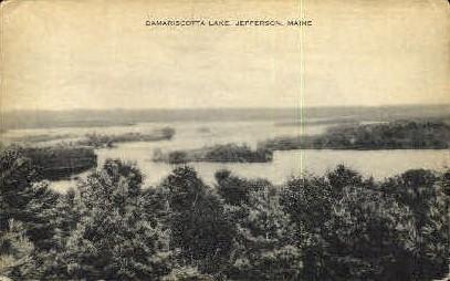 Damariscotta Lake - Jefferson, Maine ME Postcard