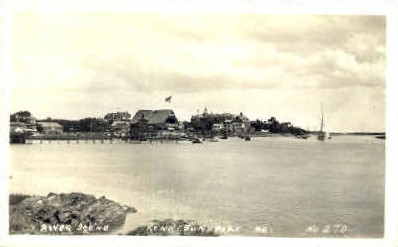 Real Photo - River - Kennebunkport, Maine ME Postcard