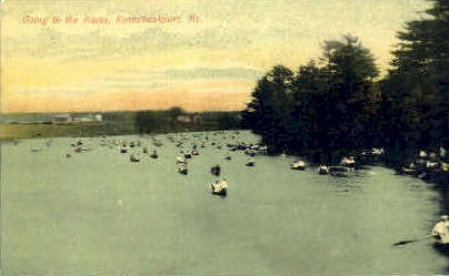 Going to the Races - Kennebunkport, Maine ME Postcard