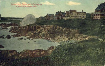 Spouting Rock & Cottages - Kennebunkport, Maine ME Postcard