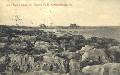 Rocky Coast & Walkers Point - Kennebunkport, Maine ME Postcard
