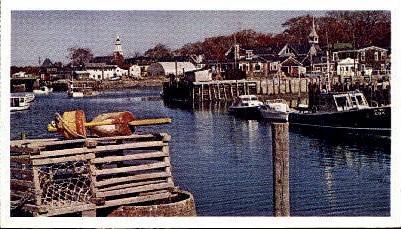 Kennebunkport Harbor - Maine ME Postcard