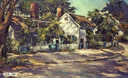 Sunlight & Shadow Oil Painting - Kennebunkport, Maine ME Postcard