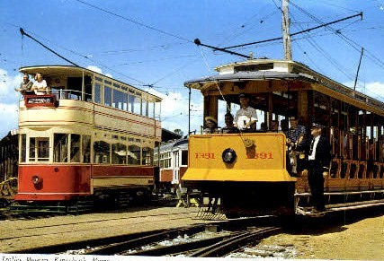 Continental Large Size Postcard, Trolley Museum - Kennebunk, Maine ME