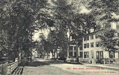 Main St. - Kennebunkport, Maine ME Postcard