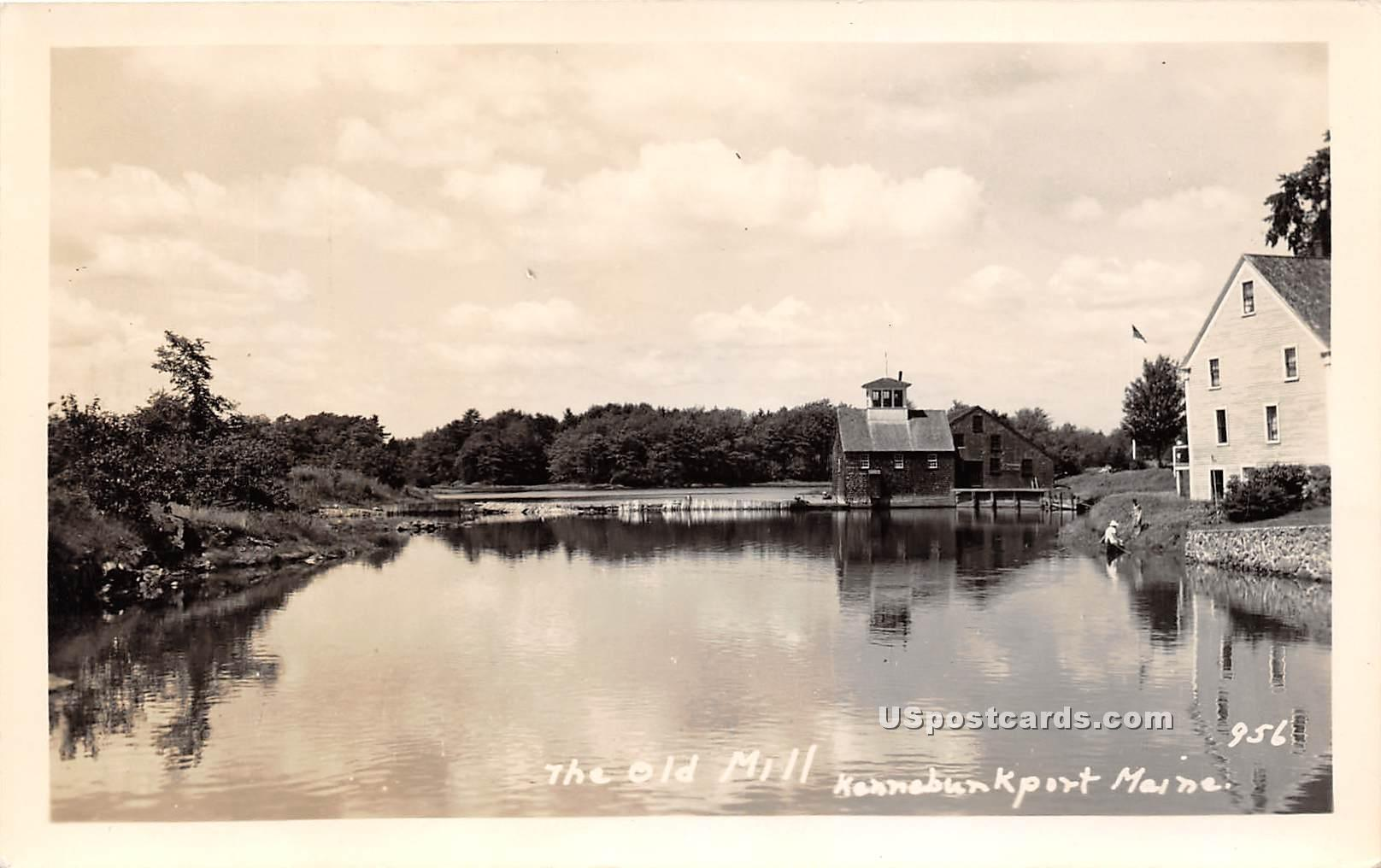 Old Mill Stream - Kennebunkport, Maine ME Postcard