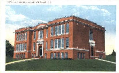 New High School - Livermore Falls, Maine ME Postcard
