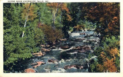 Livermore Falls, Maine, ME Postcard