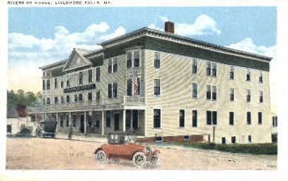 Riverside House - Livermore Falls, Maine ME Postcard