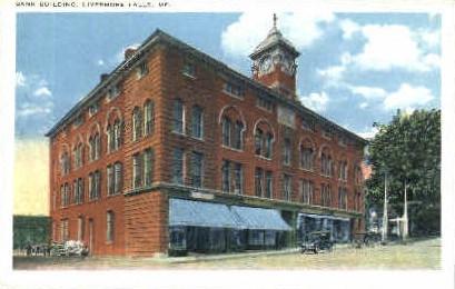 Bank Building - Livermore Falls, Maine ME Postcard