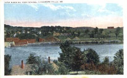 High School - Livermore Falls, Maine ME Postcard