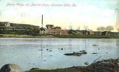 Novelty Works & Machine Shops - Livermore Falls, Maine ME Postcard