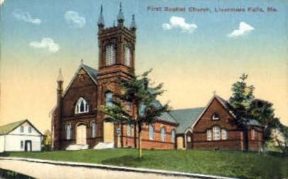First Baptist Church - Livermore Falls, Maine ME Postcard