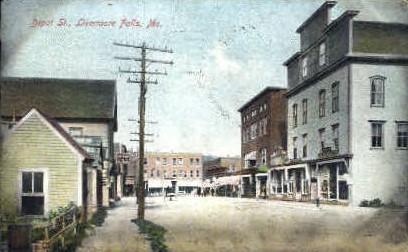 Depot St. - Livermore Falls, Maine ME Postcard