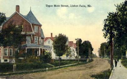 Main St. - Livermore Falls, Maine ME Postcard