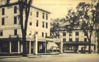 The Lincoln House - Maine ME Postcard