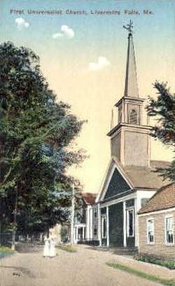 First Universalist Church - Livermore Falls, Maine ME Postcard