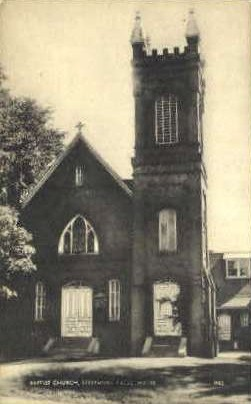 Baptist Church - Livermore Falls, Maine ME Postcard