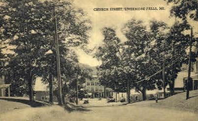 Church St. - Livermore Falls, Maine ME Postcard