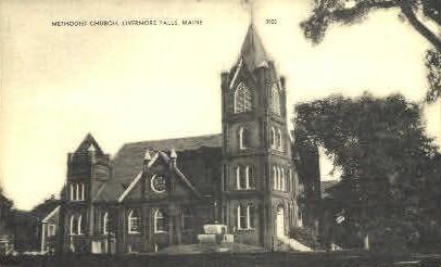 Methodist Church - Livermore Falls, Maine ME Postcard