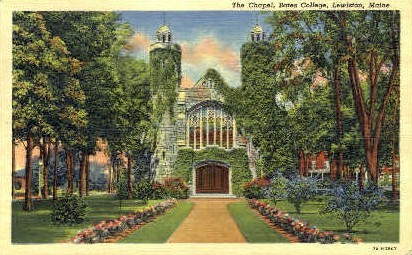 The Chapel, Bates College - Lewiston, Maine ME Postcard