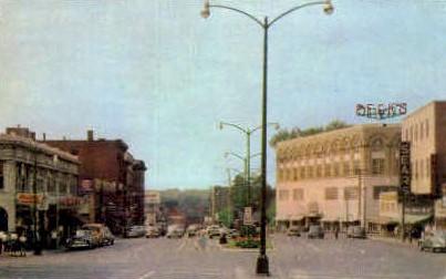 Hulett Square - Lewiston, Maine ME Postcard