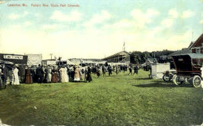 Fakers Row, State Fair Grounds - Lewiston, Maine ME Postcard