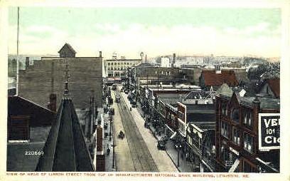 Lisbon St. - Lewiston, Maine ME Postcard