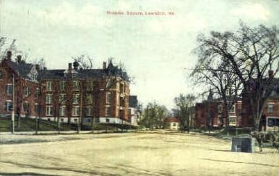 Hospital Square - Lewiston, Maine ME Postcard