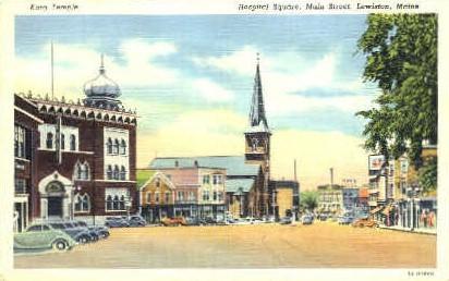 Kora Temple, Hospital Square - Lewiston, Maine ME Postcard