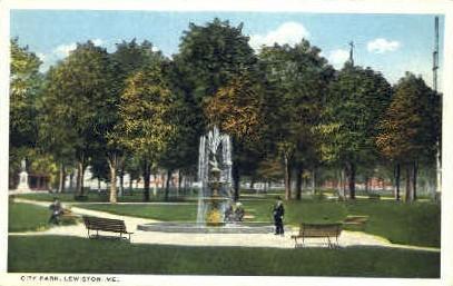 City Park - Lewiston, Maine ME Postcard