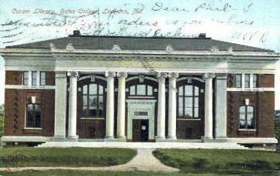 Coram Library, Bates College - Lewiston, Maine ME Postcard