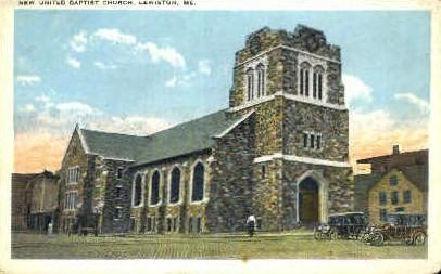 New United Baptist Church - Lewiston, Maine ME Postcard