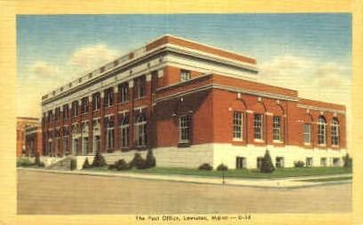 The Post Office - Lewiston, Maine ME Postcard