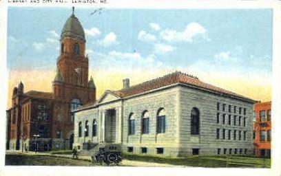 Library & City Hall - Lewiston, Maine ME Postcard
