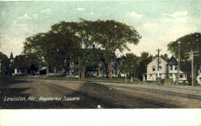 Haymarket Square - Lewiston, Maine ME Postcard