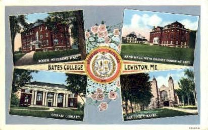Bates College - Lewiston, Maine ME Postcard