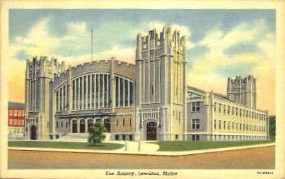 The Armory - Lewiston, Maine ME Postcard